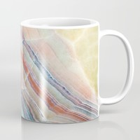 Pastel Onyx Marble Mug by Patterns and Textures