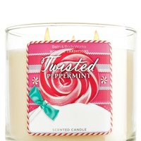 Twisted Peppermint 14.5 oz. 3-Wick Candle   - Slatkin & Co. - Bath & Body Works
