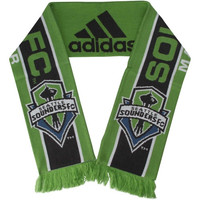 Seattle Sounders FC adidas Jacquard Knit Scarf – Green - http://www.shareasale.com/m-pr.cfm?merchantID=7124&userID=1042934&productID=546714975 / Seattle Sounders FC
