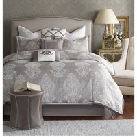 Courtney Grey Damask Comforter Set