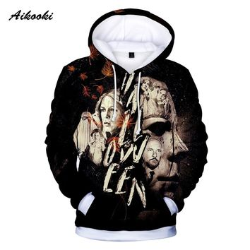 3D Hoodies Print Michael Myers halloween Cosplay Costumes hooded Scary Movie Horror 3D Printed Men's Winter Cool Hoodies coats