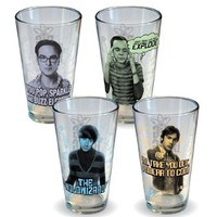 Big Bang Theory Collector's Series Pint Glass 4-Pack