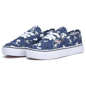 Vans X Peanuts Girls Boys Children Baby Toddler Kids Child Fashion Casual Sneakers Sport Shoes