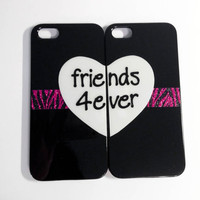 Friends Forever iPhone 4/4S cases  Pink Zebra by VanityCases