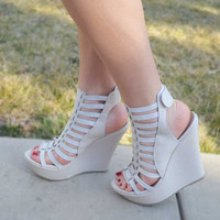 Gladiator Wedges - Beige
