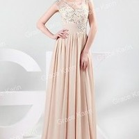 2015 BEADED Bridesmaid Prom Wedding Ball Gown Evening Formal Party Long Dresses