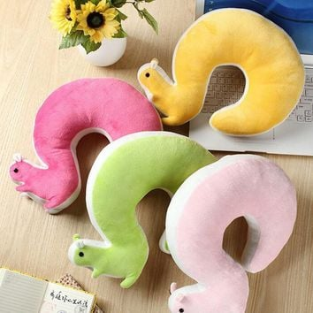 Remarkable Nap Pillow 1Pcs Novelty Squirrel Animal Cotton Plush U Shape Neck Pillow Travel