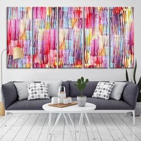 27875 - Large Pink Abstract Wall Art Canvas Print