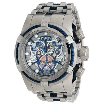 Invicta 12900 Men's Bolt Zeus Silver Skeleton Dial Chronograph Steel Dive Watch