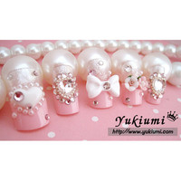 Japanese Nails Elegant Pink Pearls [4013T(pink)] - $35.00 : HimeCastle, Welcome to your new home princess