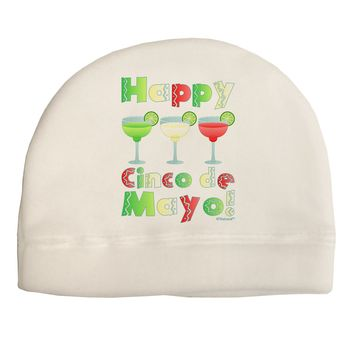 Margaritas - Mexican Flag Colors - Happy Cinco de Mayo Child Fleece Beanie Cap Hat by TooLoud