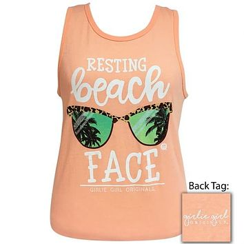 Girlie Girl Preppy Resting Beach Face Tank Top