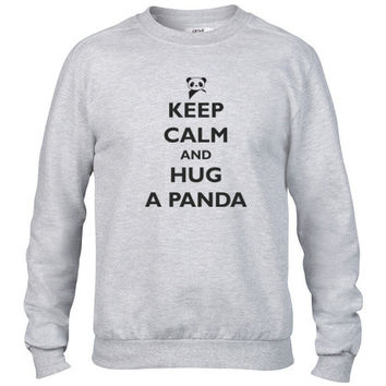 Keep Calm and Hug a Panda Crewneck sweatshirt
