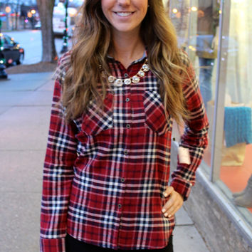 Red Plaid w/ Chambray