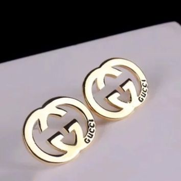 GUCCI New fashion personality letter earring women accessories Golden