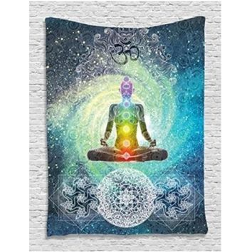 Indian Mandala 7 Chakra Wall Hanging Tapestry 200X130cm