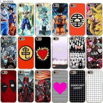 Lavaza Dragon Ball Son Goku One Tree Hill Deadpool Black Stripe Case for iPhone XS Max XR X 8 7 6 6S Plus 5 5S SE