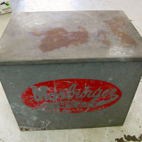 Zinc Dairy Box -- Marburger Farm Dairy Milk Crate -- Antique, Rustic, Primitive Decoration -- Kitchen Farmhouse Decor
