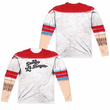 Suicide Squad Harley Quinn Daddys Little Monster Sublimation Long Sleeve Shirt