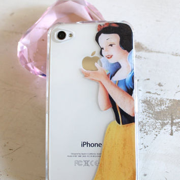 snow white iphone 4 4s 5 clear case