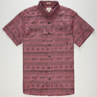 Ambig Downey Mens Shirt Red  In Sizes