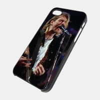 Kurt Cobain Nirvana Design For iPhone 5 / 5S / 5C / 4 / 4S - Samsung Galaxy S3 / S4 ( Plastic / Rubber Case )
