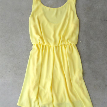 Sweet Yellow Daffodil Dress [5052] - $34.00 : Vintage Inspired Clothing & Affordable Dresses, deloom | Modern. Vintage. Crafted.