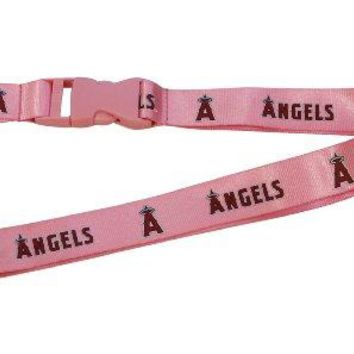 Los Angeles Angels Lanyard - Breakaway with Key Ring - Pink