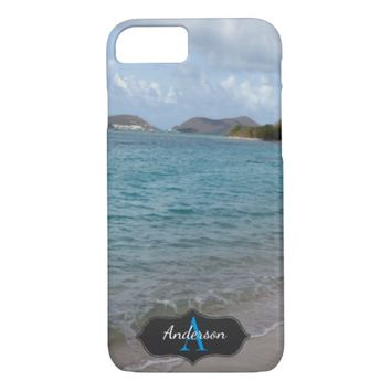 Beautiful Caribbean Ocean Photograph Monogrammed iPhone 7 Case