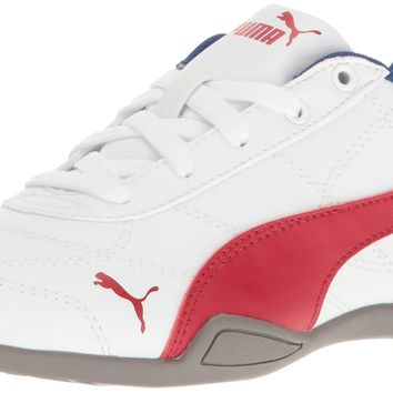 PUMA Tune Cat 3 Kids Sneaker (Little Kid) Puma White/ Barbados Cherry 11.5 M US Little