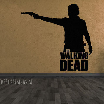 The Walking Dead Rick Grimes Character Vinyl Wall Decal