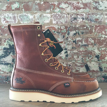 "Thorogood 8"" Moc Toe Boot, Tan"