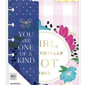 "Happy Planner Socialite Mini Dashboards 4.5""X7.25"" Pack of 3"