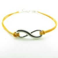 Infinity Symbol Bracelet - Yellow Color
