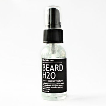 BEARD H2O. beard mist. 100% natural & vegan beard spray - tropical tincture.