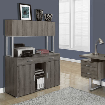 "Dark Taupe Reclaimed-Look 48""L Office Storage Credenza"