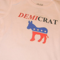 Democrat Baby Bodysuit, Demicrat Onesuit. Can Be Customized By Size.