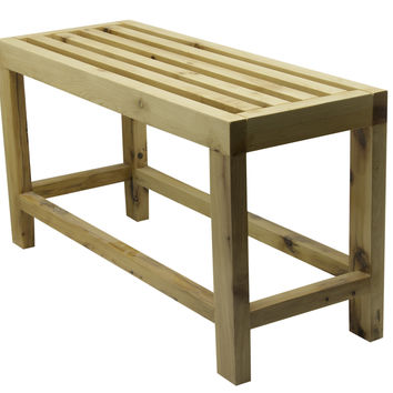 """ALFI brand AB4401 26"""" Solid Wood Slated Single Person Sitting Bench"""