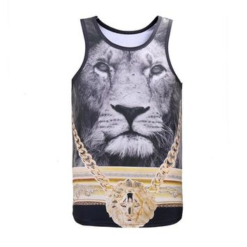Golden Medal Lion King Tank Top