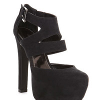 Seville Black Asymmetric Heel - View All  - Shoes
