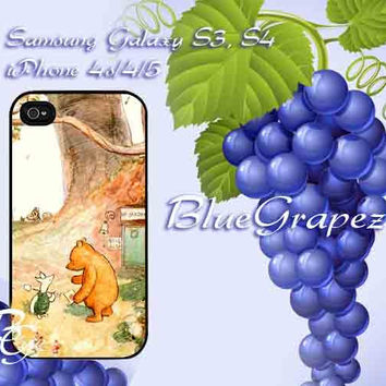 Winnie The Pooh Classic Design for iPhone 4, iPhone 4s, iPhone 5, Samsung Galaxy S3, Samsung Galaxy S4 Case
