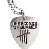 5 Seconds Of Summer Guitar Pick Necklace