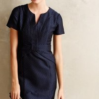 Diamond-Dot Pencil Dress by Anthropologie Navy