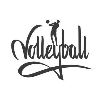 wall quotes wall decals - Volleyball Calligraphy