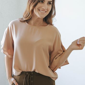 Believe in Love Top - Apricot
