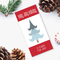 Christmas Gift Tag, Printable Christmas Gift Tag, Printable Tag, Editable Christmas gift tag, DIY Printable INSTANT DOWNLOAD