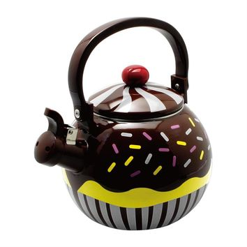 Chocolate Cupcake Whistling Tea Kettle