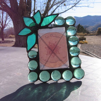 Stained Glass Picture Frame - Green Glass