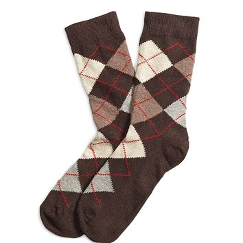 Argyle Crew Socks - Brooks Brothers