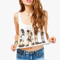 CALI Photo Print Cropped Tank